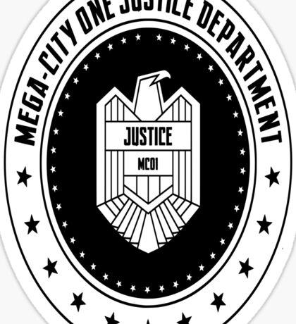 Mega-City One Justice Department Judge Dredd Sticker