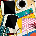 Scrapbook background by Richard Laschon