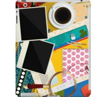 Scrapbook background iPad Case/Skin