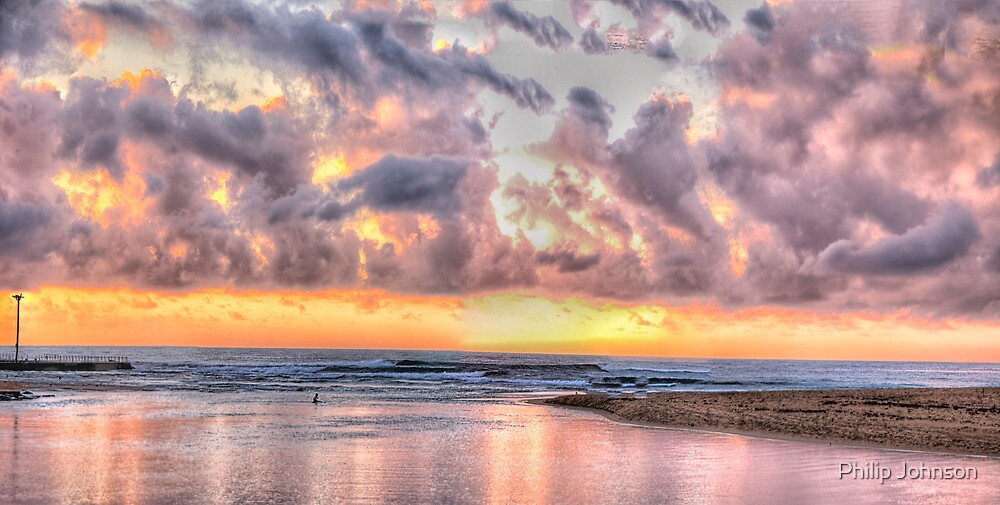 Pink - Narrabeen Lakes, Narrabeen - The HDR Experience by Philip Johnson