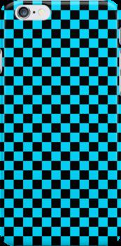 Checkerboard - Light Blue by chrishull