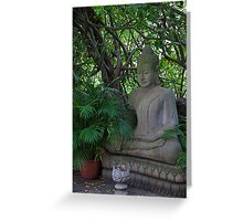 Cambodia. Phnom Pehn. Royal Palace. Statue of Buddha. Greeting Card
