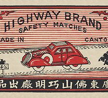 Highway Brand Safety Matches by Match Box Labels