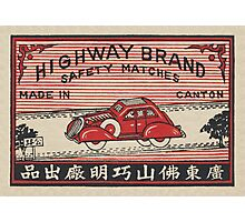 Highway Brand Safety Matches Photographic Print