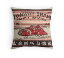 Highway Brand Safety Matches Throw Pillow