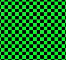 Checkerboard - Green by chrishull