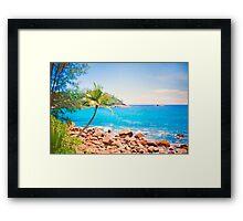 azul turquesa. seychelles. Framed Print