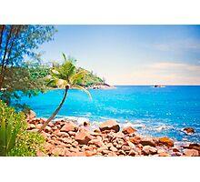 azul turquesa. seychelles. Photographic Print