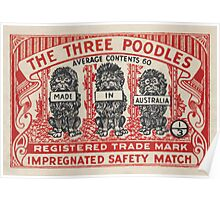 The Three Poodles Poster