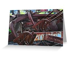Rusty Stuff Greeting Card