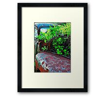 Old truck with tree Framed Print