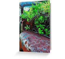 Old truck with tree Greeting Card