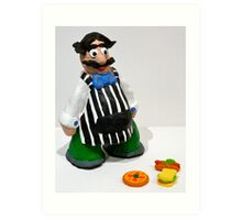 Con the Grocer Art Print
