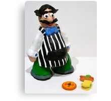 Con the Grocer Metal Print