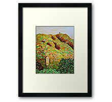 Cahuenga Peak, Warner Bros tower, David Olson Framed Print