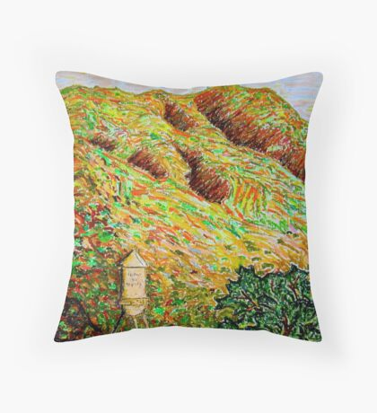 Cahuenga Peak, Warner Bros tower, David Olson Throw Pillow