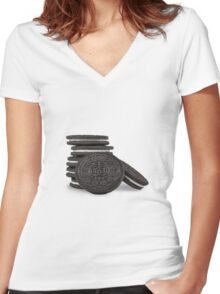 Oreos  Women's Fitted V-Neck T-Shirt