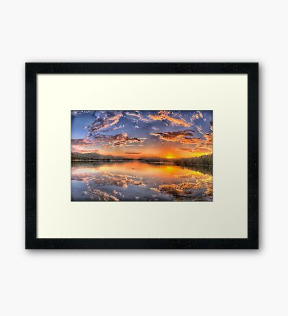 Painted Sky #2 - Narrabeen Lakes, Narrabeen - The HDR Experience Framed Print