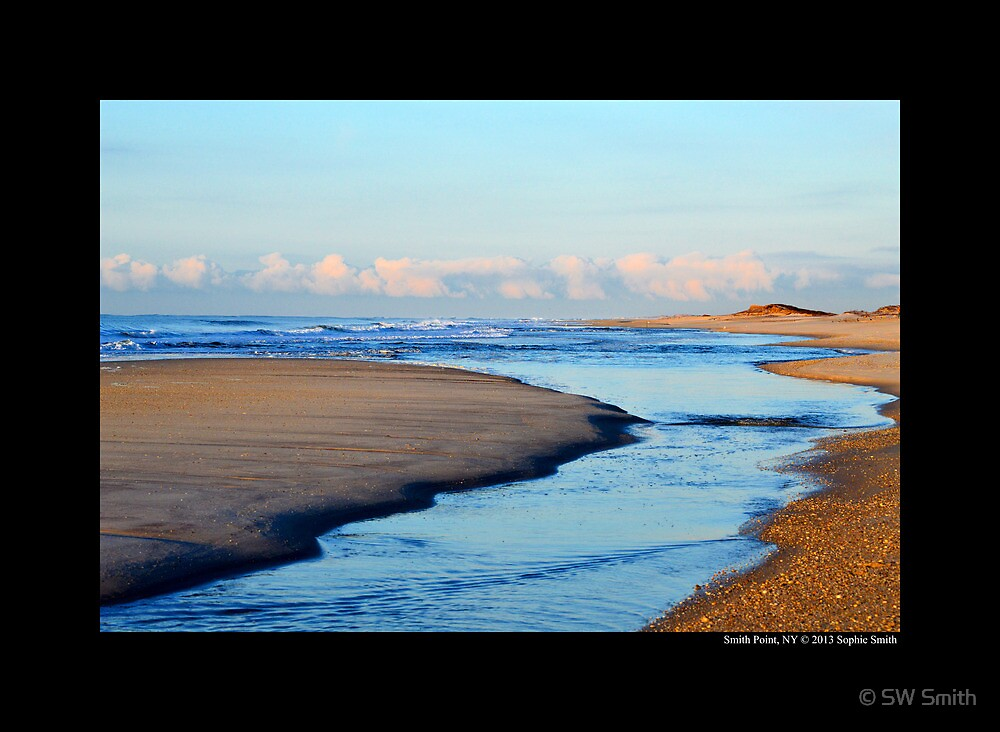 Atlantic Ocean Morning - Smith Point, New York by © Sophie W. Smith