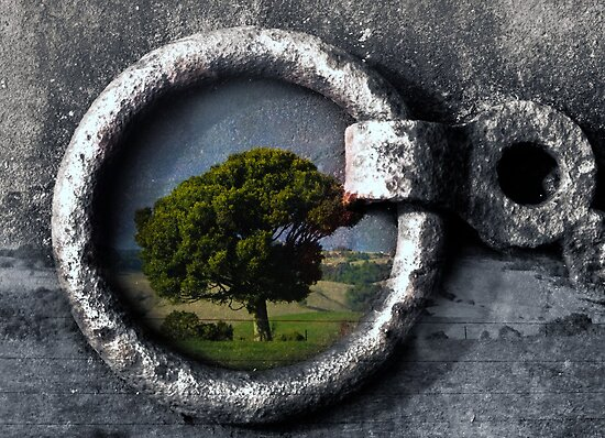 View through a keyhole by Clare Colins