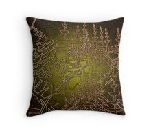 Pines and their shadows Throw Pillow