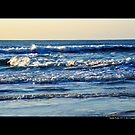 Atlantic Ocean Morning Waves - Smith Point Country Park, New York by © Sophie Smith