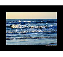 Atlantic Ocean Morning Waves - Smith Point Country Park, New York Photographic Print