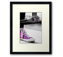 Purple Shoe Framed Print