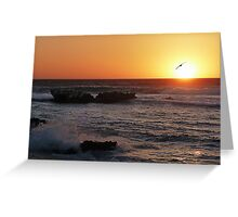 Trigg Beach at Sunset, Western Australia Greeting Card