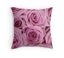 Southern Belle - pink roses Throw Pillow