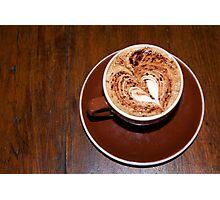 Latte Love  Photographic Print