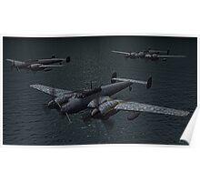Messerschmitt Bf 110 Night Fighters Poster