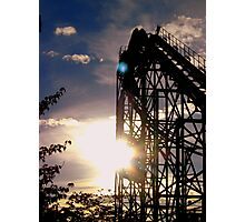Roller Coaster Sunset Photographic Print