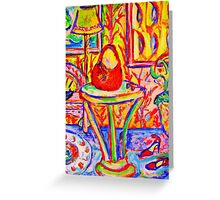 Red Hot Spikes and Purse Greeting Card