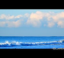 Atlantic Ocean Blue Morning - Smith Point, New York by © Sophie W. Smith