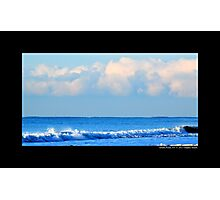 Atlantic Ocean Blue Morning - Smith Point, New York Photographic Print