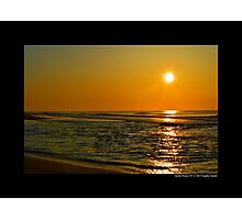 Atlantic Ocean Sunrise - Smith Point, New York  Photographic Print