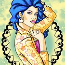 80s Blue-Haired Glamour Queen by CatAstrophe