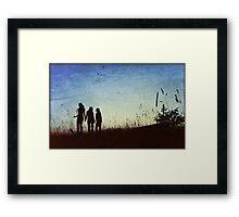 Three Friends- Metallic Edit Framed Print