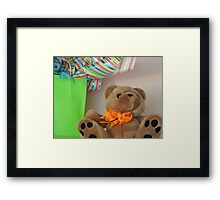 Teddy with Bow tie   ^ Framed Print