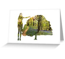 Eco Warrior (Female)  Greeting Card