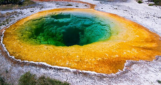 Morning Glory Pool in Yellowstone National Park, Wyoming by Kenneth Keifer