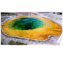 Morning Glory Pool in Yellowstone National Park, Wyoming Poster