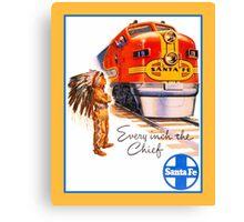 Santa Fe Chief train streamliner ad retro vintage Canvas Print