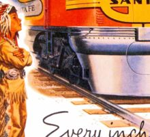 Santa Fe Chief train streamliner ad retro vintage Sticker
