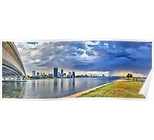 Perth City Sunrise Poster