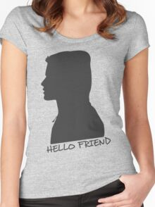 Hello F Women's Fitted Scoop T-Shirt