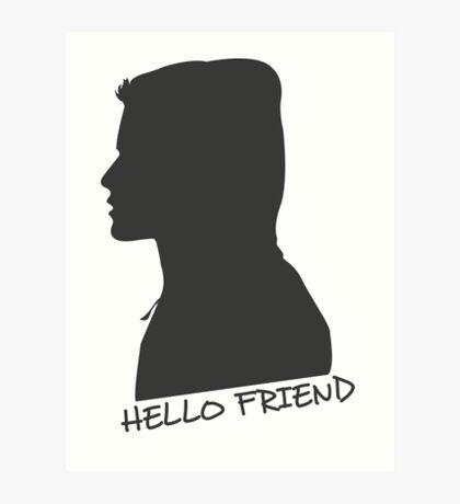 Hello F Art Print