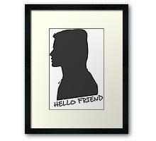 Hello F Framed Print