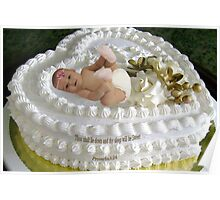 ㋡ SWEET BABY CAKE WITH BIBLICAL SCRIPTURE ㋡ Poster